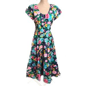 Romantic vintage floral sundress